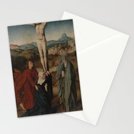 Gerard David - Crucifixion with the Virgin, Saint John, and the Magdalene Stationery Cards