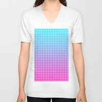 gradient V-neck T-shirts featuring Gradient by aesthetically
