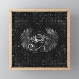 Egyptian Eye of Horus - Wadjet Digital Art Framed Mini Art Print