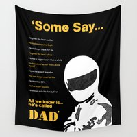 dad Wall Tapestries featuring Best Dad Stig by Rebecca Bear
