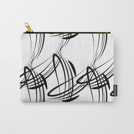 Monochrome pattern lines for decoration in Victorian style on a white background. Carry-All Pouch