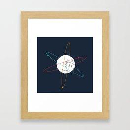 Cat-ion Framed Art Print