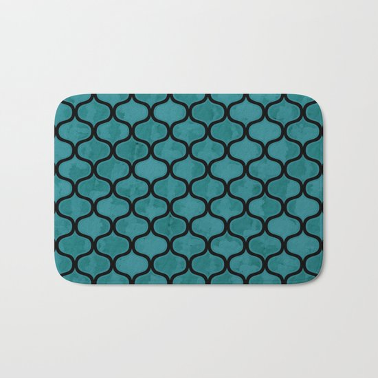 Watercolor Lovely Pattern VVXIV Bath Mat