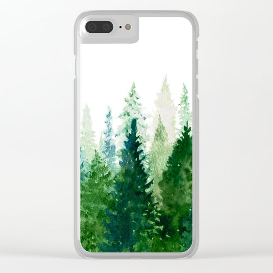 Pine Trees 2 Clear iPhone Case