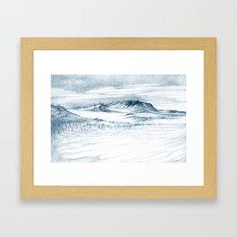 Beach Sand Dunes Drawing Framed Art Print