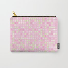 Abstract pink mosaic pattern Carry-All Pouch