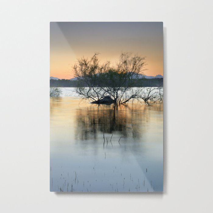 """Peace at the lake"". Dream sunset. Metal Print"