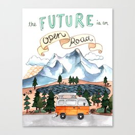 The Future is an Open Road Canvas Print