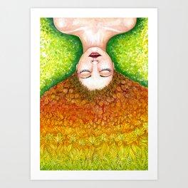 Autumn Queen Art Print