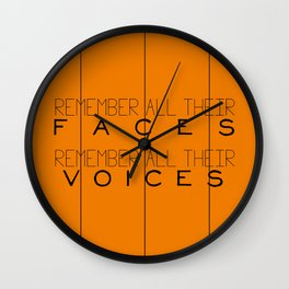 Remember - Orange is the New Black Wall Clock