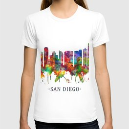 San Diego California Skyline T-shirt