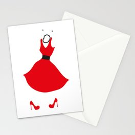 Little Red Dress Stationery Cards