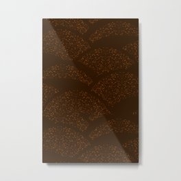 Sparkling Hills - Brown Metal Print