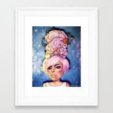 Party Hair Framed Art Print