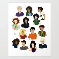 percy jackson Art Prints featuring Percy Jackson - Character Sheet by BBANDITT