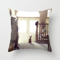 lily Throw Pillows featuring Lily by Rachel Bellinsky