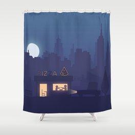NY Pizza Shower Curtain