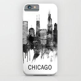 Chicago Illinois Skyline BW iPhone Case