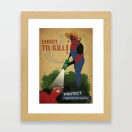 Protect your garden Framed Art Print