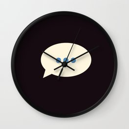 An awkward silence Wall Clock