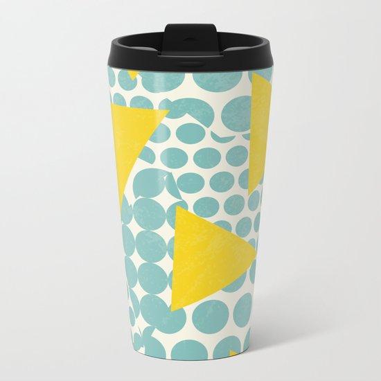 Dots and Triangles Metal Travel Mug