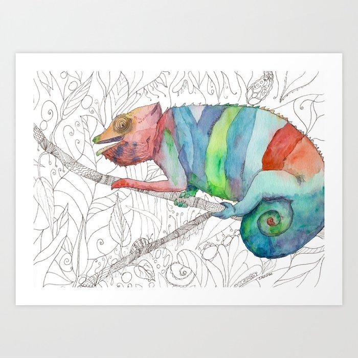 Chameleon Fail Art Print