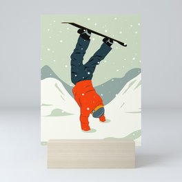 Snowboarding Mini Art Print
