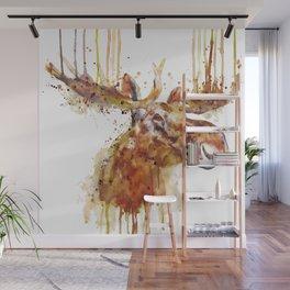 Moose Head Wall Mural
