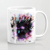 calavera Mugs featuring Boring calavera by DizzyNicky
