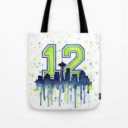 Seattle Skyline Space Needle 12th Art Tote Bag