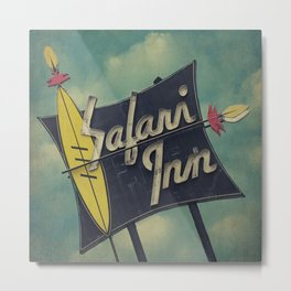 Safari Inn, Burbank, CA.  Metal Print