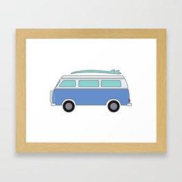 Blue Beach Van Framed Art Print