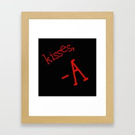 kisses, A Framed Art Print