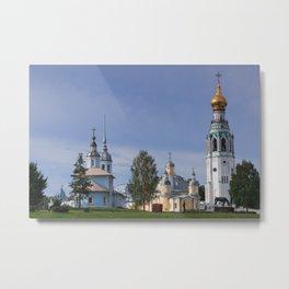 Vologda Kremlin In The Morning Metal Print