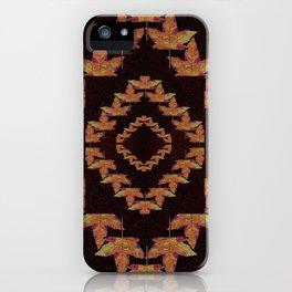 Kaleidoscope maple leafs iPhone Case
