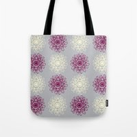 wallpaper Tote Bags featuring wallpaper by Art Stuff