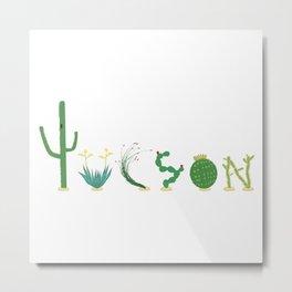 Tucson Cacti Letters Metal Print