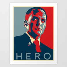 Hero Art Print