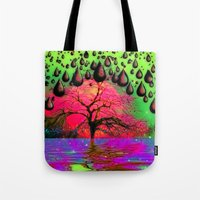 "psychedelic Tote Bags featuring ""Psychedelic"" by Moon Willow"