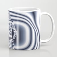 james bond Mugs featuring Bond Girl by Brian Raggatt