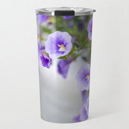 Violets in a Milk Churn Travel Mug