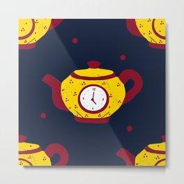tea time blue! Metal Print
