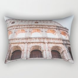 Roman Colosseum   Europe Italy Rome Architecture Ancient Ruins City Photography Rectangular Pillow