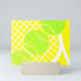 Icy Lemon Scribblez Mini Art Print