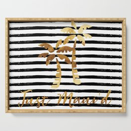 Palm Trees & Stripes - Just Maui'd Serving Tray