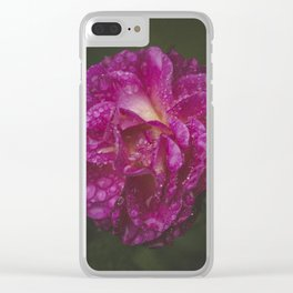 Pink Drops Clear iPhone Case