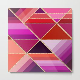 Abstract triangles 0726 Metal Print