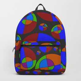 Bubble red & blue 09 Backpack