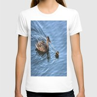 swimming T-shirts featuring Swimming Lesson by Judy Palkimas