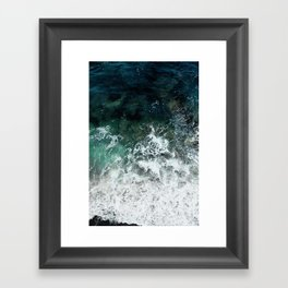 Pacific Ocean Colors Framed Art Print